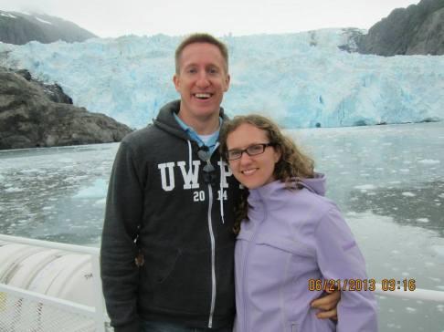 Glacier on our honeymoon
