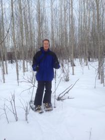 Snowshoeing near Wasilla
